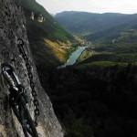 Au sommet du Roc Aiguille dans les gorges du Tarn