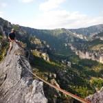 Tom au sommet du RocAiguille dans les gorges du Tarn