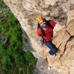 Grande voie escalade : Camino de l'Autan blanc dans la Jonte